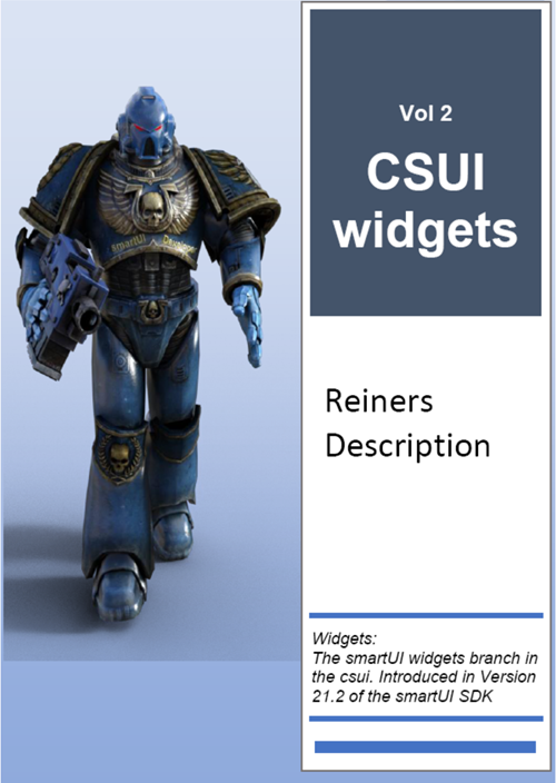 Volume 2: CSUI Widgets